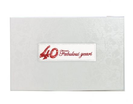 Beaded 40th Ruby Wedding Anniversary Photo Album
